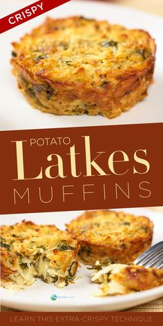Potato Latke Muffins - #potatolatkes - Potato Latke Muffins...