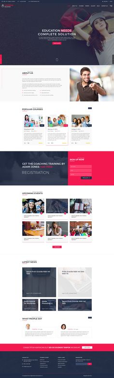 Unipress Education PSD Template #psd #education #school • Download ➝ https://themeforest.net/item/unipress-education-psd-template/18664920?ref=pxcr