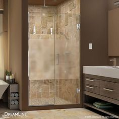 "DreamLine SHDR-244407210-HFR Unidoor Plus 72"" High x 44-1/2"" Wide Hinged Framele Chrome Showers Shower Doors Hinged"