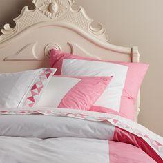 Color Frame Duvet Cover & Shams – Pink | Serena & Lily