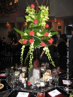 #wedding #blackandred #chargers dayna mancini // event design and coordination // cutetc.com