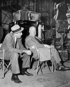 Alfred Hitchcock and James StewartVertigo, 1958