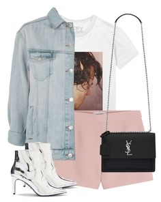 """""""Untitled #13375"""" by alexsrogers ❤ liked on Polyvore featuring Valentino, Topshop and Yves Saint Laurent"""