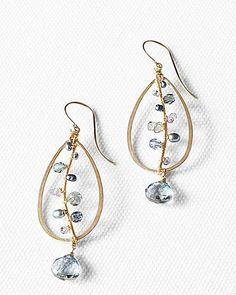 Dana Kellin Beaded Teardrop Earrings