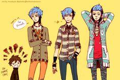 mordecai AND RIGBY Regular Show Anime, Mordecai Y Rigby, Manga Anime, Anime Art, The Originals Show, Anime People, Hot Anime Guys, Vocaloid, My Childhood