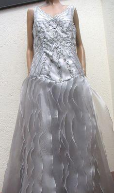 NEW Carlo PIGNATELLI evening wedding long prearl grey Swarovski luxury dress  #carlopignatelli #SpecialOccasion