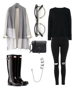 """Rainy days"" by cschronicles on Polyvore featuring Hunter, Topshop, Frame Denim and Steve Madden"
