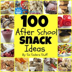 100 Easy After School Snacks from Sixsistersstuff.com #backtoschool #snacks