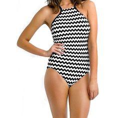 Tribal High Neck Swimsuit