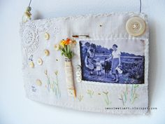 Textile embroidered wall hanging