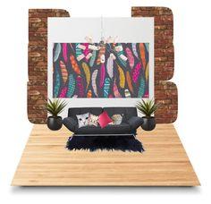 """Sin título #61"" by liznickyq on Polyvore featuring interior, interiors, interior design, hogar, home decor, interior decorating, Suki Cheema, CB2, M&Co y Waring"