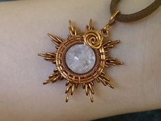 Sun pendant - How to make wire jewelery 215 - YouTube