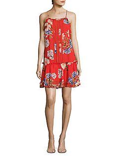 NICHOLAS N/Nicholas Hydrangea Silk Drop-Waist Dress