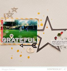 #papercraft #scrapbook #layout       Grateful+>+Maggie+Holmes+Studio+Calico+Oct+Kits+by+maggie+holmes+at+@Studio_Calico