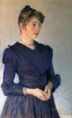 P. S. Krøyer 1889 Kunstnerens hustru Marie Krøyer 46x28cm. Skagens Museum