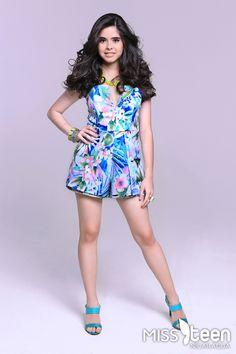 Ella es María Valeria Delgadillo, candidata a #MissTeenNica 2015. Tiene 16 años y representa a Managua.