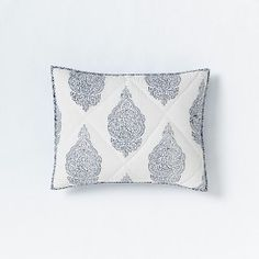 Hand-Blocked Medallion Quilt + Shams | west elm* * also euro avail.