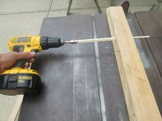 Making dowels with a table saw.