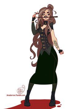 Character Design Challenge - Bellatrix Lestrange by MeoMai