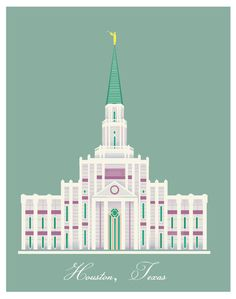 LDS Temples Houston TX Temple by ShowMePaint on Etsy, $16.00
