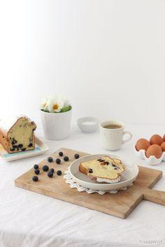 Tinkas Welt: Heidelbeer-Kastenkuchen mit Karamellstückchen