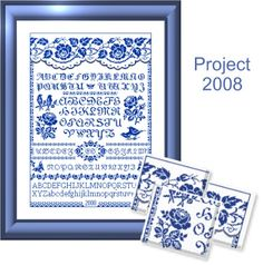 Free Printable Cross Stitch Patterns | Free Cross Stitch Patterns by EMS Design. Free Project 2008 - The Rose ...