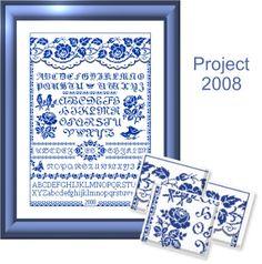 Free Printable Cross Stitch Patterns | Free Cross Stitch Patterns by EMS Design. Free Project 2008 - The Rose ...