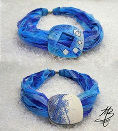Oboustranný  náhrdelník, polymer jewelry - Martina Buriánová