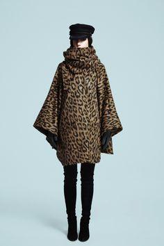 Mid-Length Leopard Alpaca Cloak