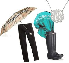 """""""College Life; Rainy Days"""" by jackikutt ❤ liked on Polyvore"""