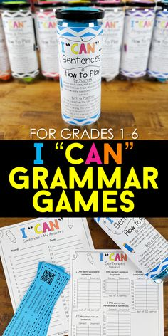 Grammar Games, Grammar Practice, Grammar Activities, Teaching Grammar, Grammar Lessons, Teaching Activities, Student Teaching, Teaching Reading, Teaching Resources