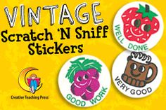 Vintage Scratch N' Sniff Stickers!!!