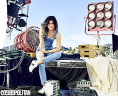 Edgy: The 17-year-old Keeping Up With The Kardashians star donned overalls and trainers fo...