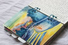 travel journal watercolor illustration and notes