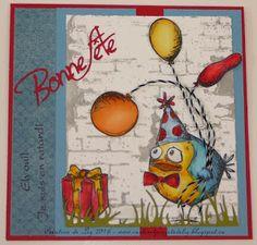 """Cartes artisanales et autres projets artistiques de Liz: 2 cartes d'anniversaire avec des """"Crazy"""" personnages de Tim Holtz Crazy Bird, Tim Holtz, Creations, Painting, Art Projects, Masculine Cards, Daughter, Characters, Painting Art"""