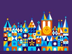 It's a small world designed by Nino Mamaladze. Connect with them on Dribbble; the global community for designers and creative professionals. Baby Pink Wallpaper Iphone, Disney Wallpaper, Disney Concept Art, Disney Fan Art, Disney Nerd, Disney Love, Mary Blair, Disney Rides, Custom Icons