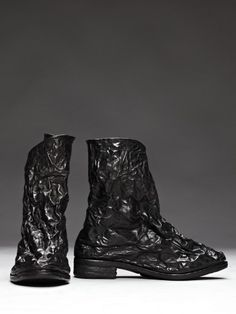 Carol Christian Poell -- Kangaroo Leather/Aluminum Crushable Boot.