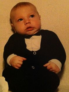 My son doing his Alfred Hitchcock impersonation.  heh heh