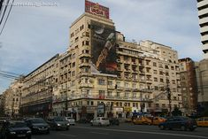 Blocul Creditul Minier in Romanian, located on the corner of Bălcescu Bouvelard and Batiştei Street, Bucharest. It was built in 1937 by architect State Baloşin. Bucharest Romania, Daily Photo, Times Square, Street View, War, Buildings, Scale, Corner, Travel