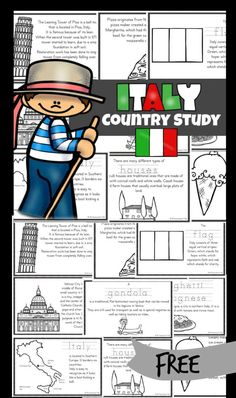 Geography For Kids, Geography Lessons, Teaching Geography, Teaching Social Studies, Student Learning, Teaching Kids, Kids Learning, France For Kids, Italy For Kids