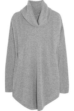 DONNA KARAN SLEEPWEAR Oversized wool and cashmere-blend pajama top