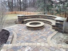 "Our new backyard patio/fire pit by ""cutting edge designs.""  Love it!"