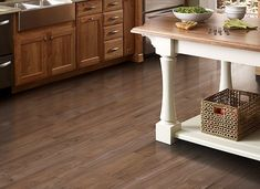 Simplesse – Java Teak in Mohawk Flooring Vinyl www.lawsonbrother… Simplesse – Java Teak in Mohawk Flooring Vinyl www. Types Of Kitchen Flooring, Vinyl Flooring Kitchen, Luxury Vinyl Tile Flooring, Kitchen Vinyl, Vinyl Plank Flooring, Luxury Vinyl Plank, Stone Flooring, Flooring Ideas, Kitchen Floors