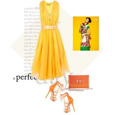 This style of dress photographs beautifully and never goes out of style. Girl Fashion, Fashion Dresses, Alexander Mcqueen Dresses, Summer Is Coming, Herve Leger, Yellow Dress, Outfit Sets, Pretty Dresses, Polyvore Fashion