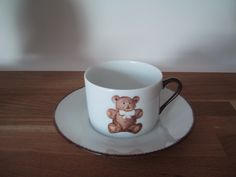 tea cup porcelain,teddy bear collection, designer Patricia Deroubaix, hand painted in Limoges porcelain. cereal bowl/ all shapes on special orders Fragile, Cereal Bowls, Tea Cups, Creations, Porcelain, Teddy Bear, Hand Painted, Shapes, Mugs