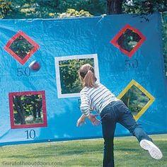 10 maneiras de brincar com bola - lona de arremesso