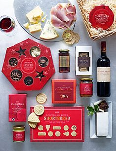 H12 lets celebrate mini hamper with a corporate branded side and gluten free christmas hamper negle Images