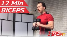 12 Min Dumbbell Bicep Workout - Biceps Workout at Home - Bicep Workout w...