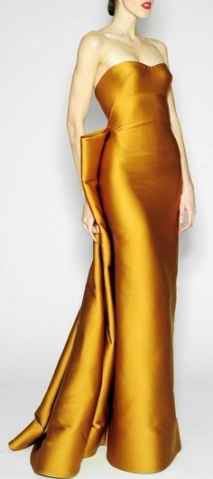 Dress silhouette?  Zac Posen ~ Pre-Fall 2014. What a color! Fifties style!