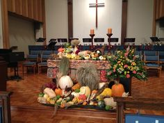 Wesley United Methodist Church in South Suburbs of Chicago. Great way to decorate an altar.